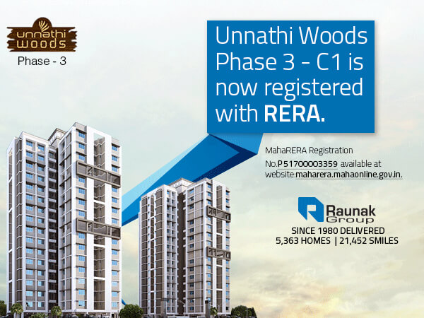 Unnathi Woods - Phase 3 C1 Receives RERA Approval