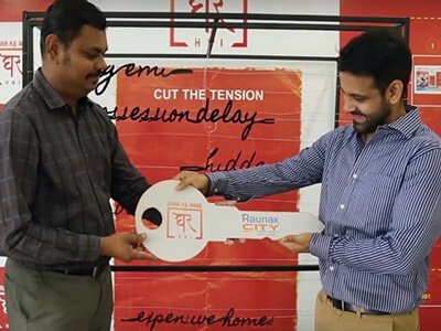 Raunak Group Goes The Extra Mile To Help A Homebuyer Find His Dream Home