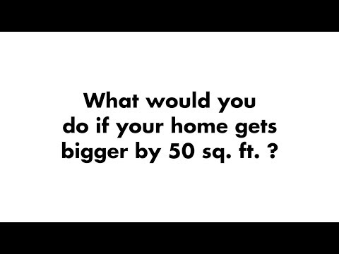What would you do with an extra 50 sq.ft.? | Raunak Group