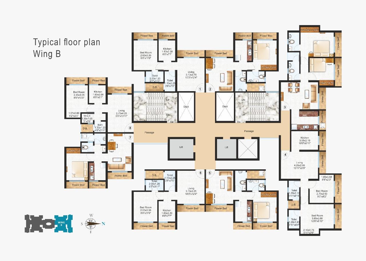 Raunak Residency Floor Plan