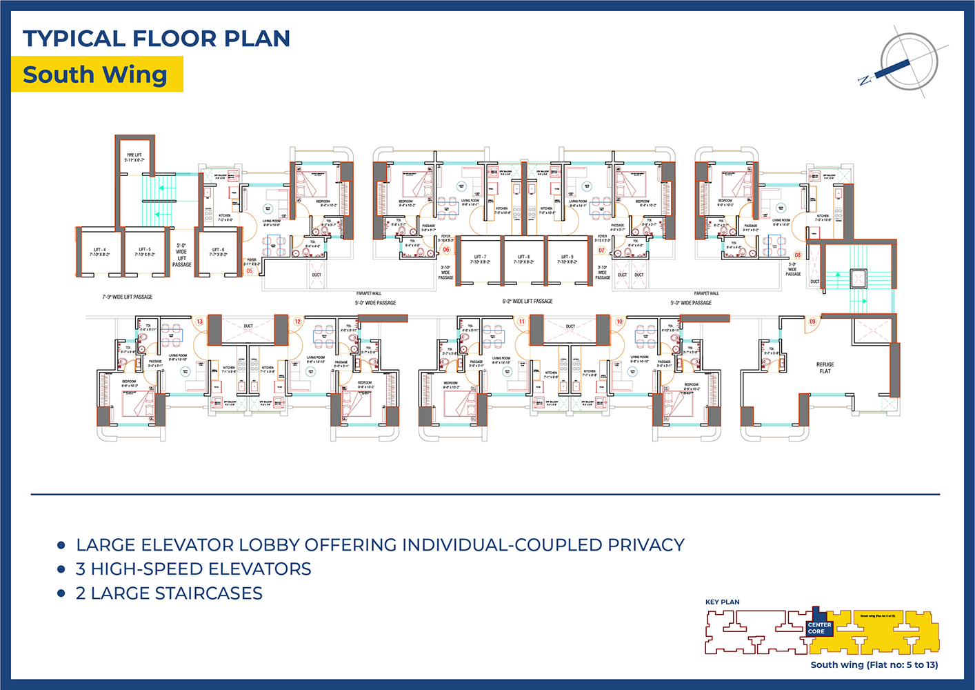 Raunak Codename Hundred Percent Floor Plan