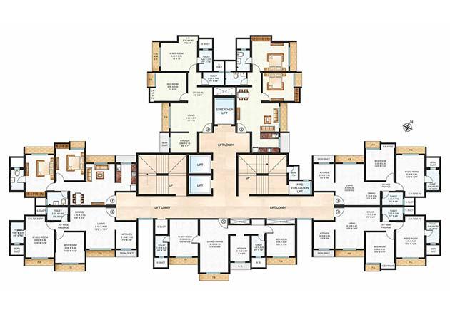 Unnathi Woods Supreme Floor Plan
