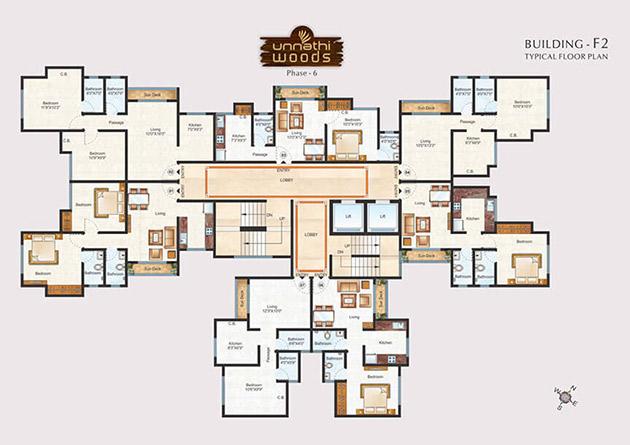 Unnathi Woods - Phase 6 Floor Plan