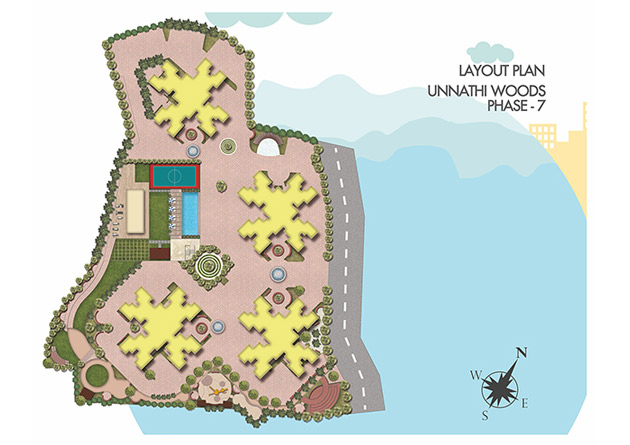 Unnathi Woods - Phase 7(B) Floor Plan